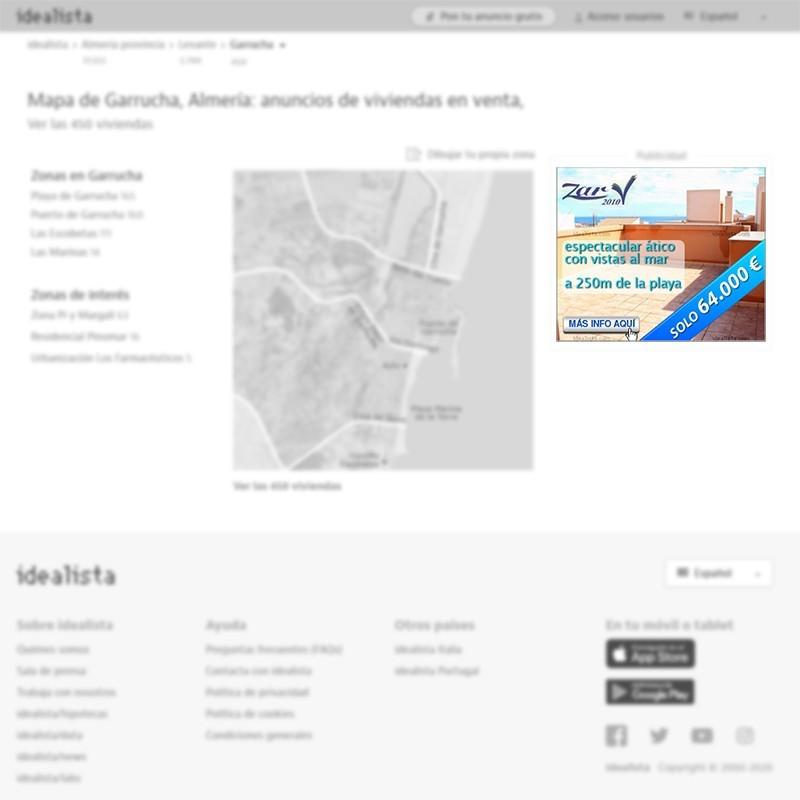 Banner robapágina de agencia inmobiliaria en Garrucha (Almería) para portal inmobiliario www.idealista.com