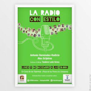"""Cartelería del Encuentro / coloquio """"La Radio con Estilo"""" de la Fundación Manuel Alcántara"""