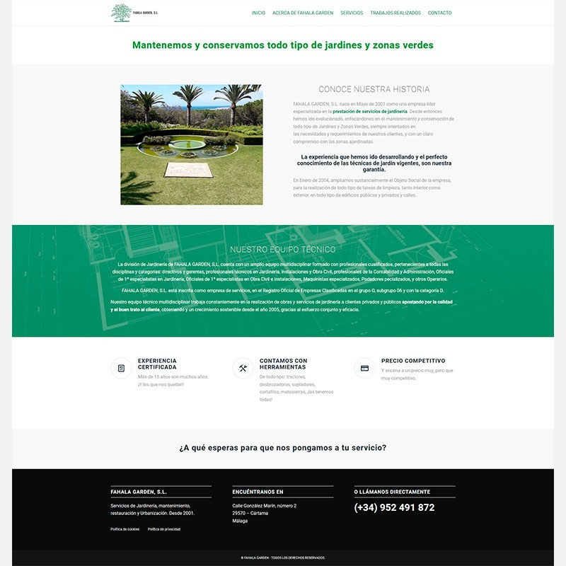 Fahala Garden, mantenimiento de jardines y zonas verdes