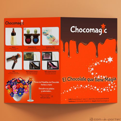 Díptico de Productos de Chocomagic