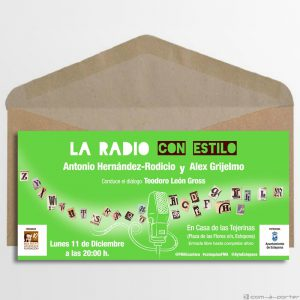 """Invitación para el Encuentro / coloquio """"La Radio con Estilo"""" de la Fundación Manuel Alcántara"""