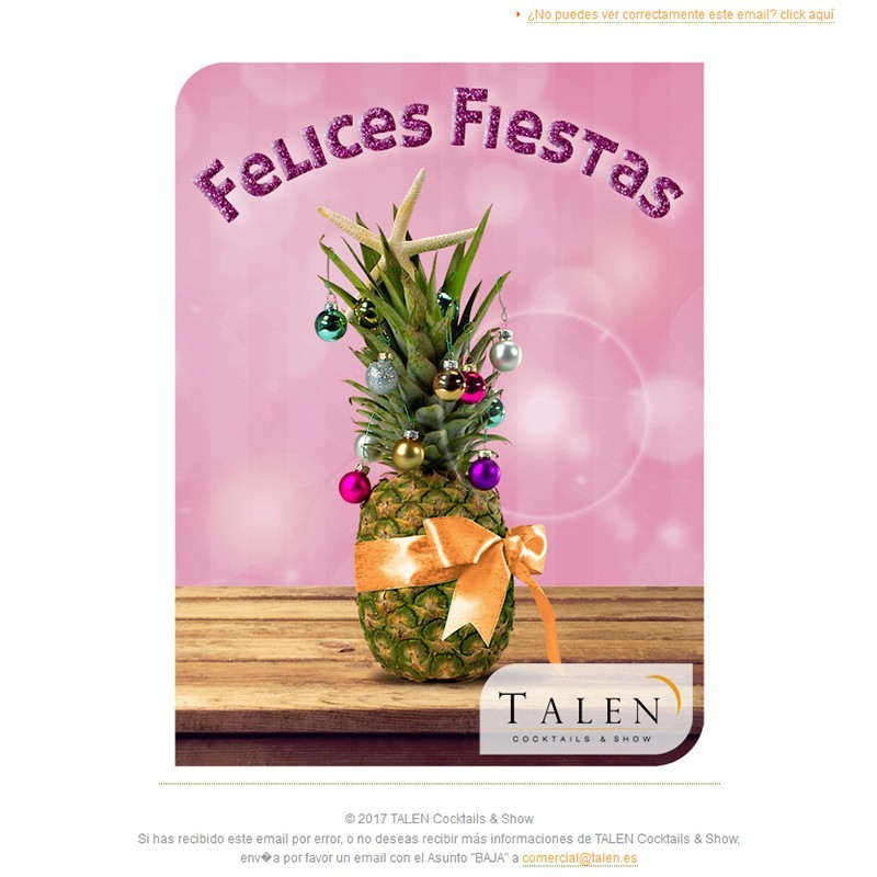Newsletters Cuatro Estaciones (2017) de TALEN Cocktails & Show