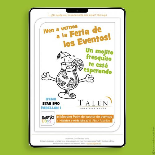 "Newsletter animando a acudir a la Feria de los Eventos ""eventodays"" en IFEMA"