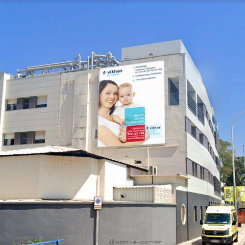 Lona de Edificio de Vithas Hospital Parque San Antonio