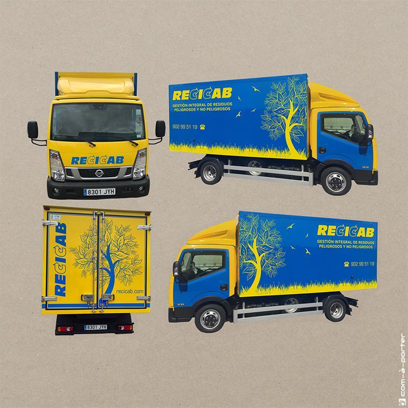 Diseño de Rotulación de Camión Frigorífico de Recicab