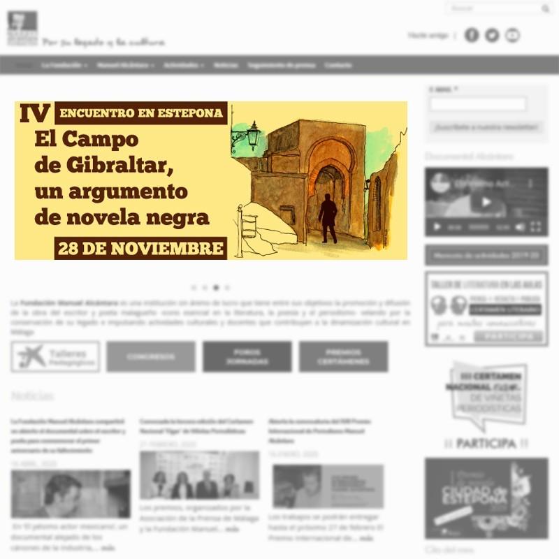 """Banner informativo del Encuentro / Coloquio """"El Campo de Gibraltar: un argumento de novela negra"""" de la Fundación Manuel Alcántara"""