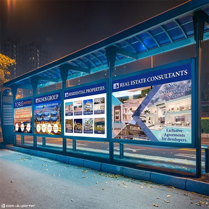 Cartelería de KINOS Group para el 14º Salón Inmobiliario del Mediterráneo (SIMed 2018)