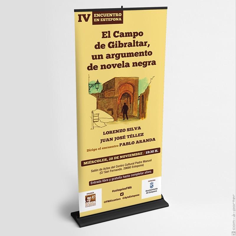 """Cartelería del Encuentro / Coloquio """"El Campo de Gibraltar: un argumento de novela negra"""" de la Fundación Manuel Alcántara"""