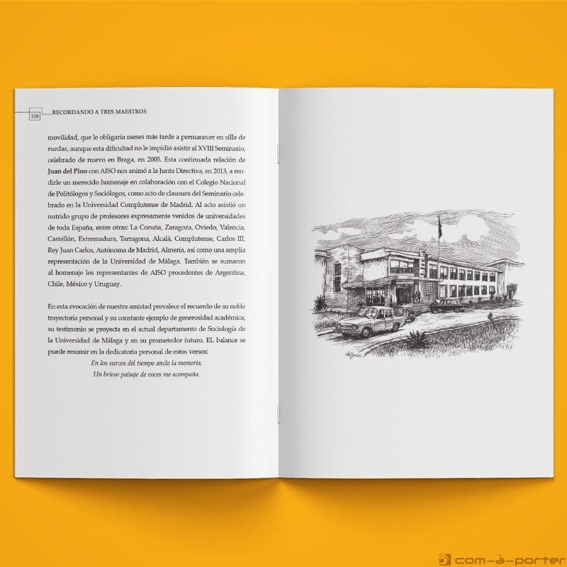 Maquetación de libro homenaje a tres ilustres profesores de la Facultad de Ciencias Económicas y Empresariales
