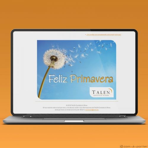 Newsletters Cuatro Estaciones (2018) de TALEN Cocktails & Show
