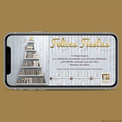 Felicitación electrónica de Navidad 2018 de la Fundación Manuel Alcántara