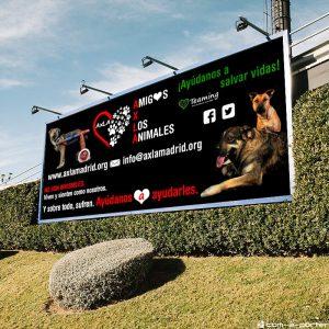 Lona Publicitaria de Divulgación de la protectora AXLA Amig@s X Los Animales