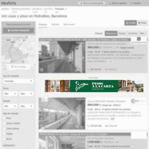 Megabanner de agencia inmobiliaria en Barcelona para portal inmobiliario www.idealista.com