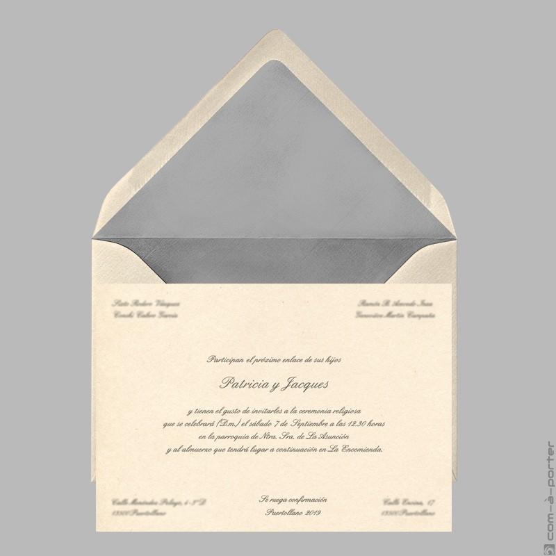 Diseño de Invitación de Boda en Puertollano (Ciudad Real)