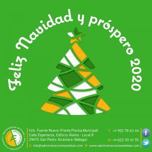 Diseño de Felicitación de Navidad para las Redes Sociales de Administraciones Esteban