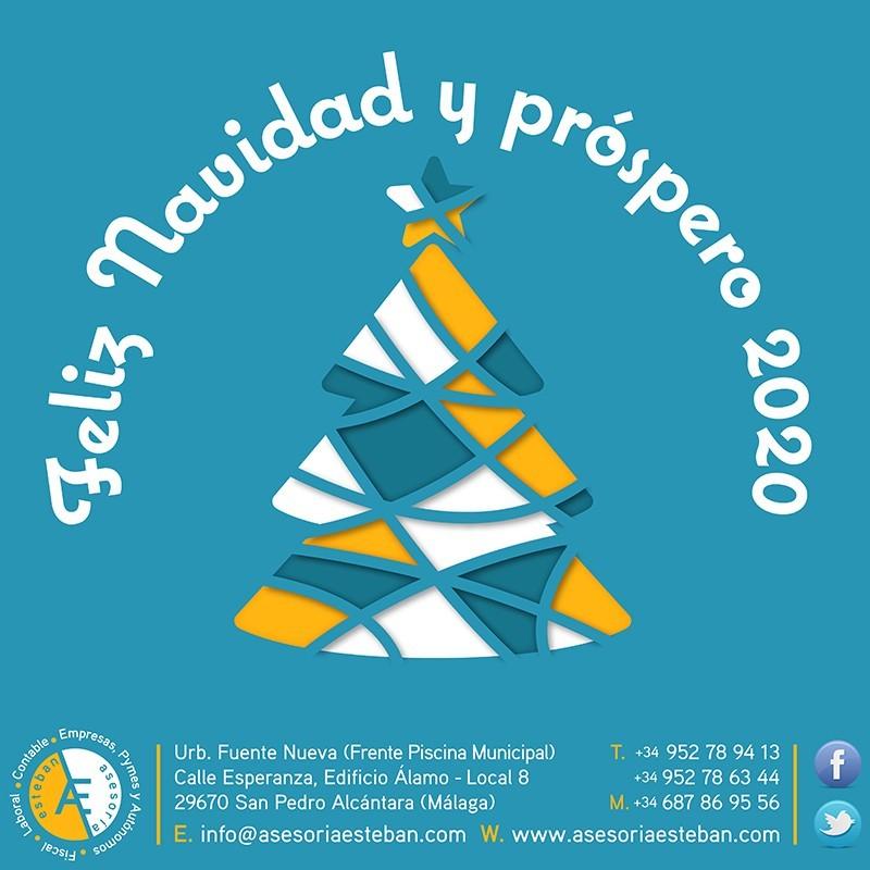 Diseño de Felicitación de Navidad para las Redes Sociales de Asesoría Esteban