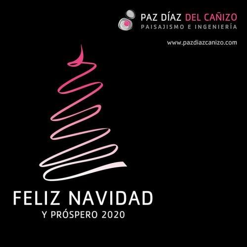 Diseño de Felicitación de Navidad para las Redes Sociales de Paz Díaz del Cañizo Paisajismo e Ingeniería