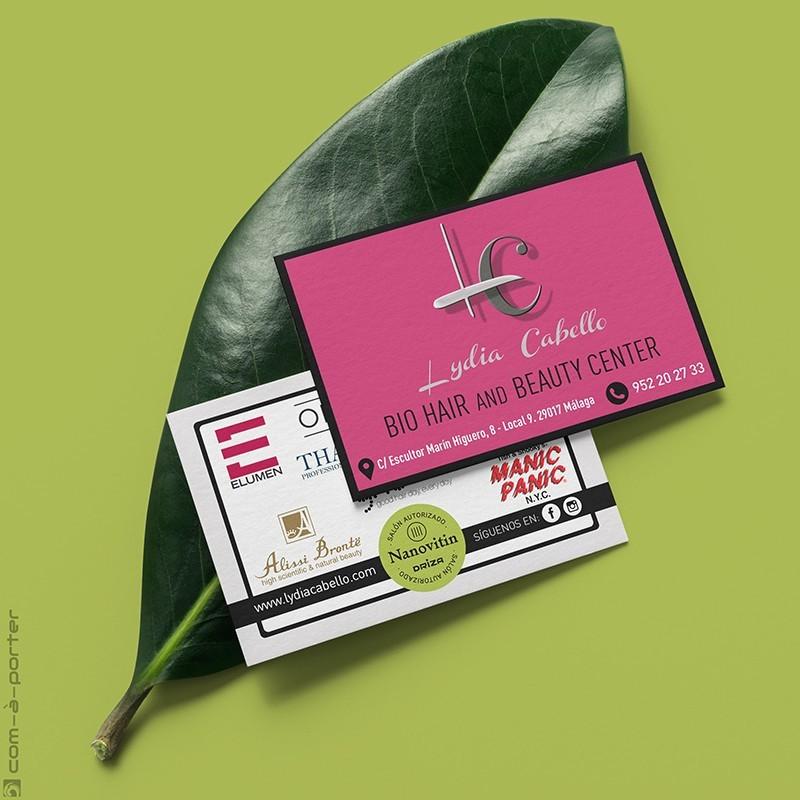Tarjeta de Visita de Lydia Cabello Bio Hair and Beauty Center