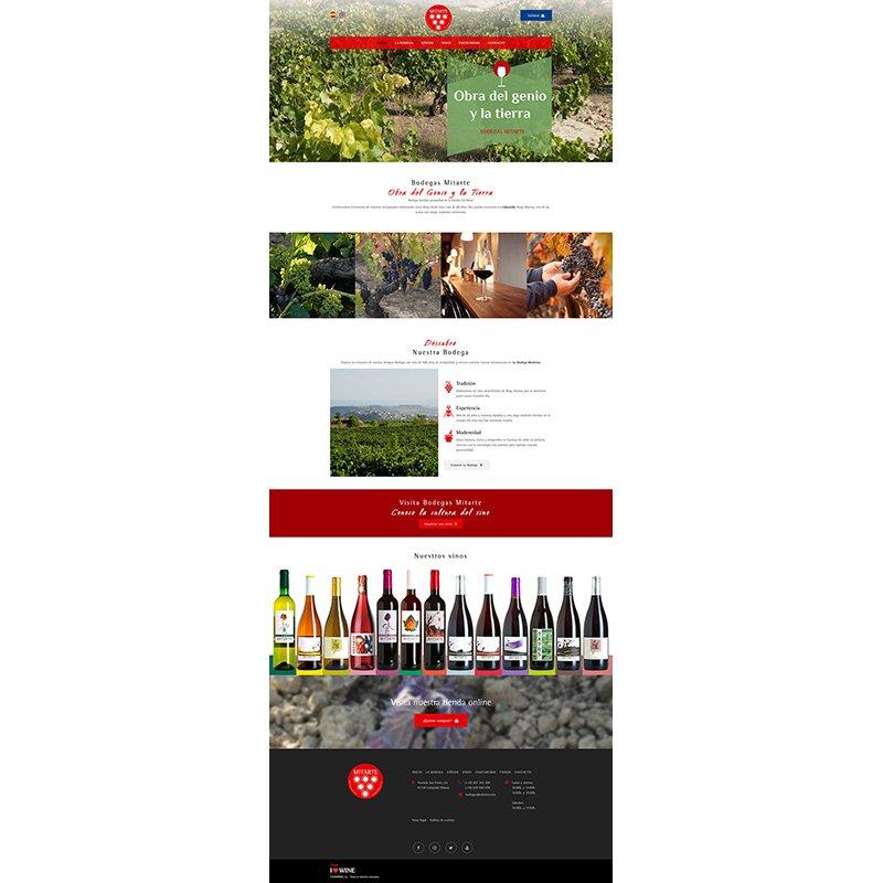 Página Web Corporativa Bodegas Mitarte