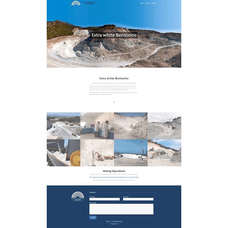 Página web corporativa de ARMIPRO (Antonio Reyes - Mina Providencia, S.A.R.L.)