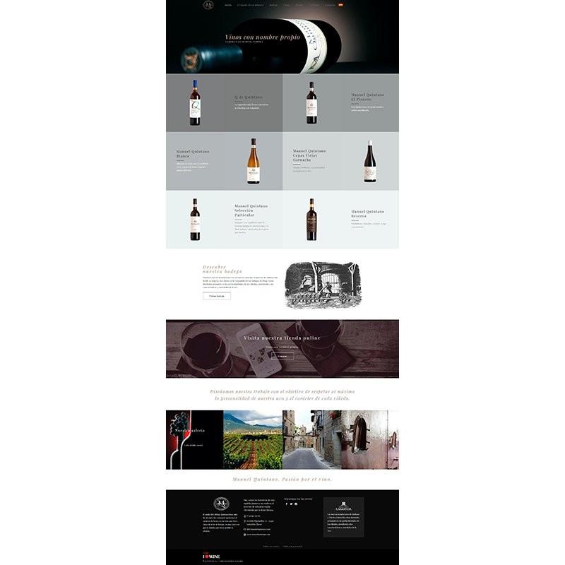 Página Web Corporativa Bodegas Manuel Quintano