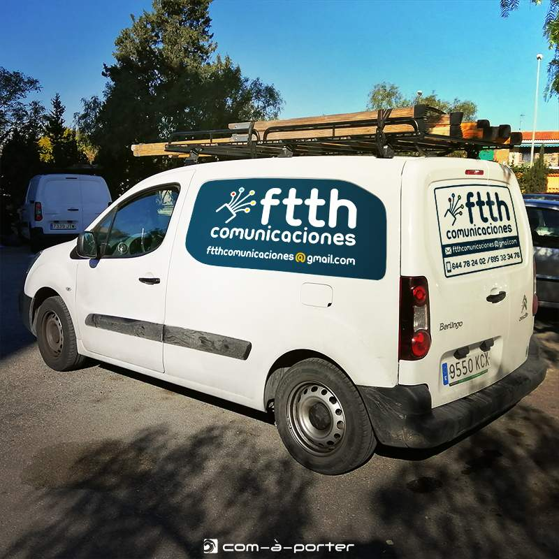 Rotulación de Furgoneta de FTTH Comunicaciones