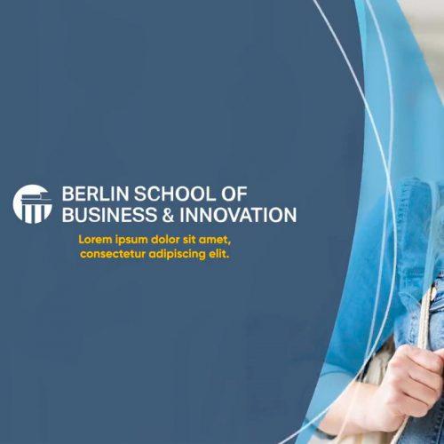 Animaciones para página web de Berlin School of Business