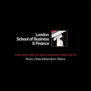 Logo y animaciones para vídeos de LSBF (London School of Business and Finance)
