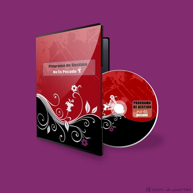 Diseño de carátula y galleta de disco CD de No Es Pecado