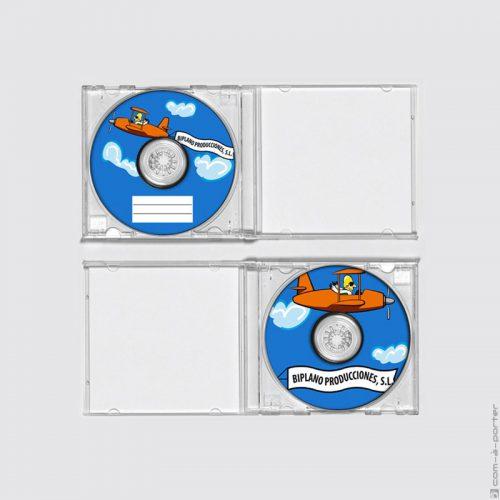 Diseño de galleta de disco CD de Biplano Producciones