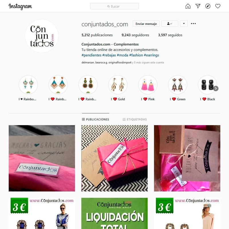 Gestión del perfil de Instagram de Conjuntados.com Online Shop