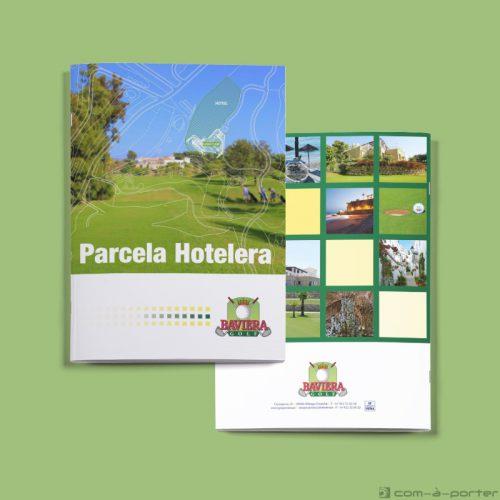 Maquetación de Dossier de Parcela Hotelera Baviera Golf
