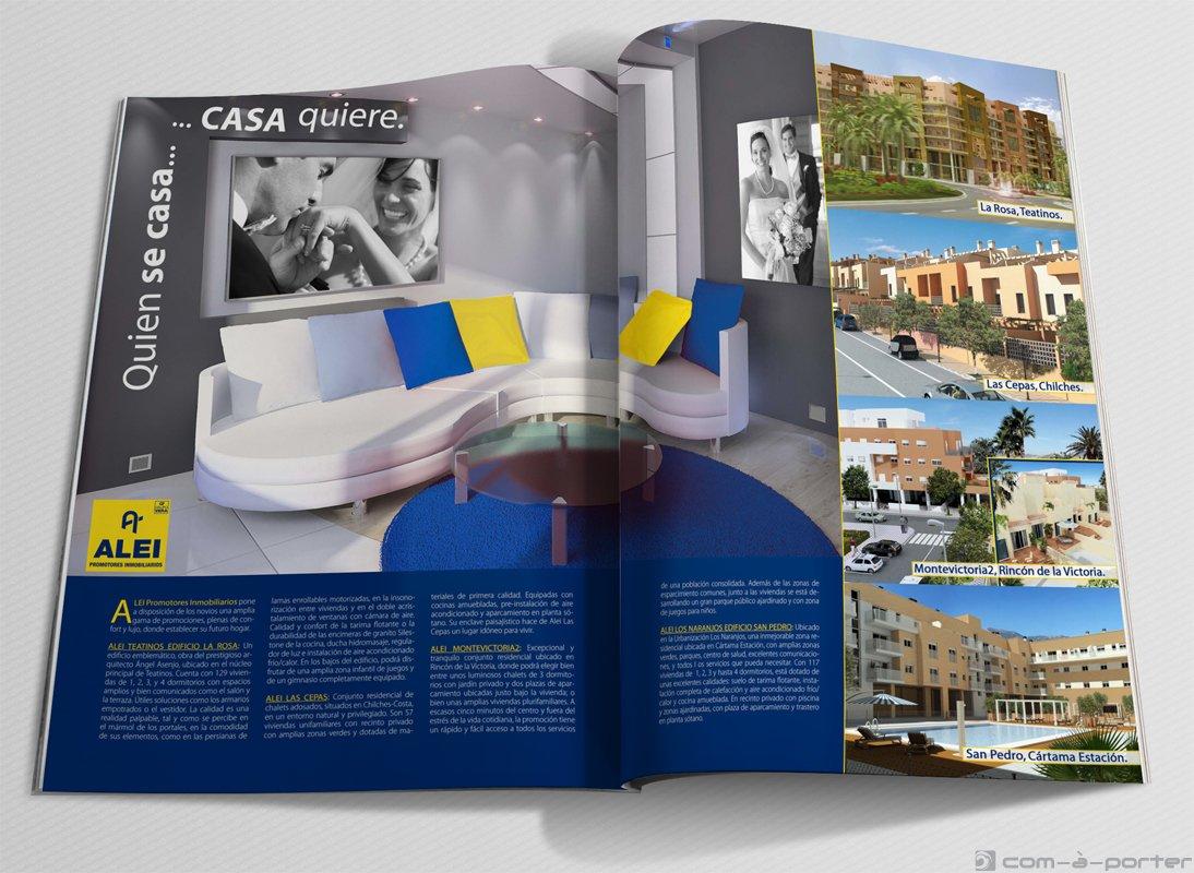 Publicidad a doble página de ALEI Promotores Inmobiliarios
