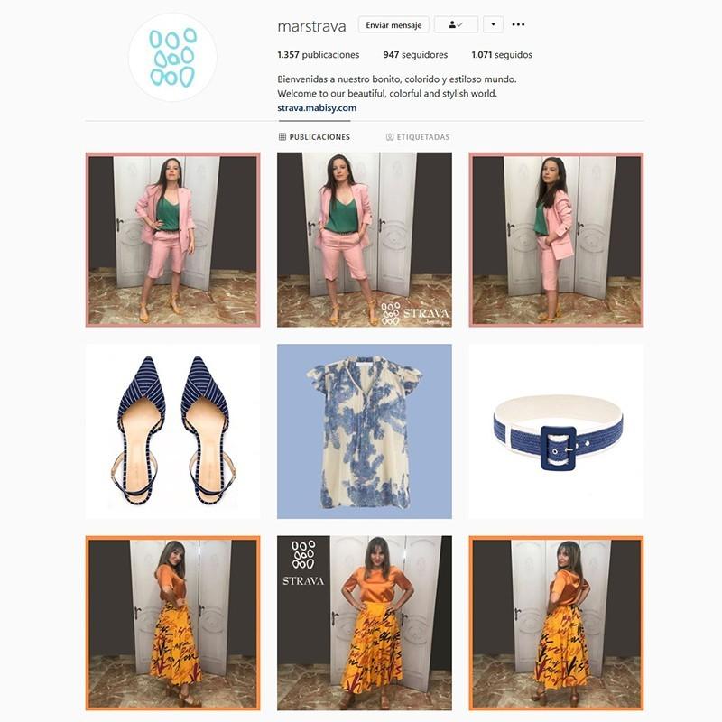 Gestión de perfil de Instagram de Strava Boutique