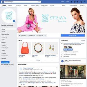Gestión del perfil de facebook de Strava Boutique