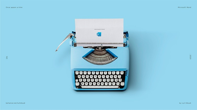 Ilustraciones nostálgicas de un tiempo pasado: Microsoft Word