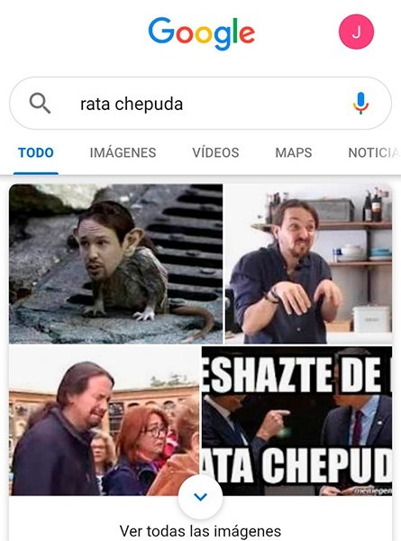 Imágenes de Pablo Iglesias y de ratas jorobadas