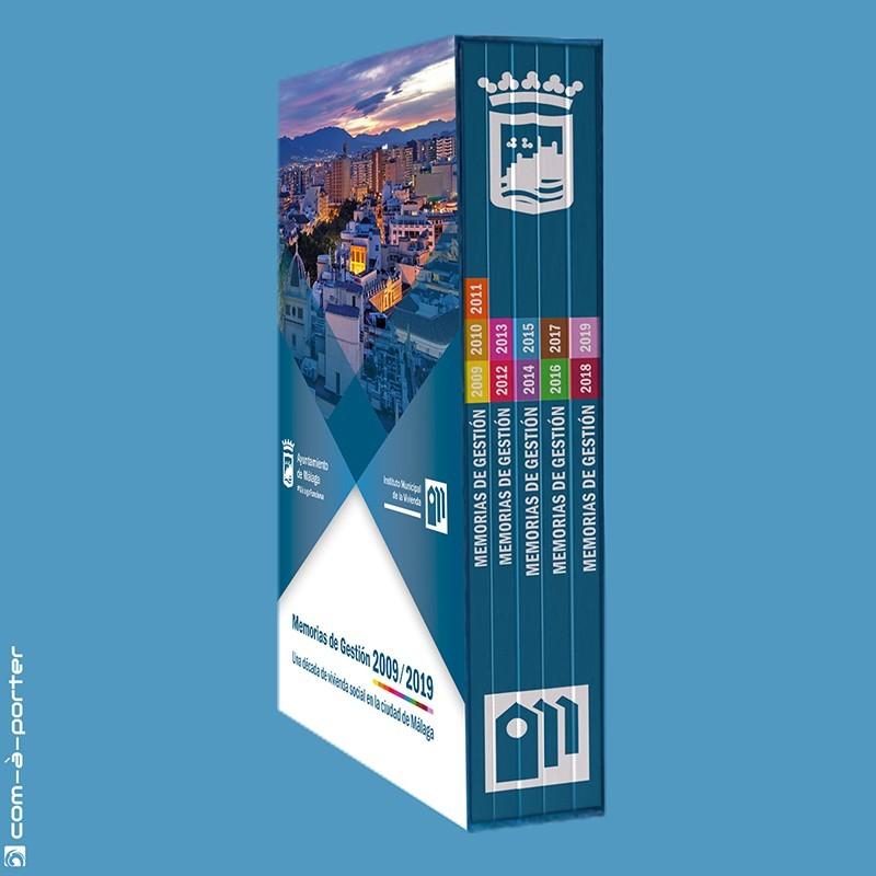 """Maquetación de la Colección Década """"Memorias de Gestión 2009-2019"""" del Instituto Municipal de la Vivienda (Ayuntamiento de Málaga)"""