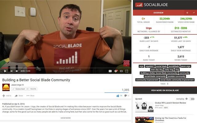 Social Blade es perfecta para sacar datos de algún vídeo de Youtube