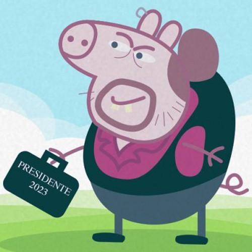 Cheppa Pig y su maleta de vicepresidente