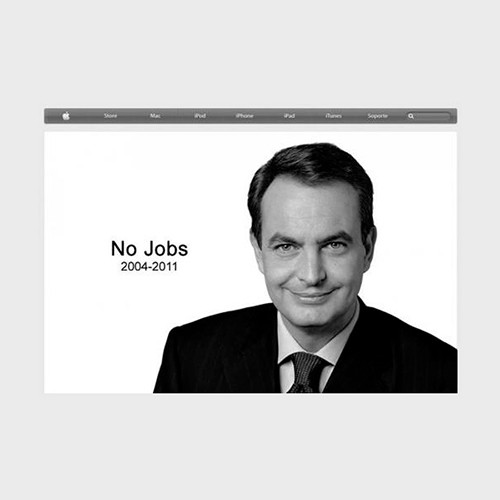 Zapatero No Jobs, un homenaje a Steve Jobs
