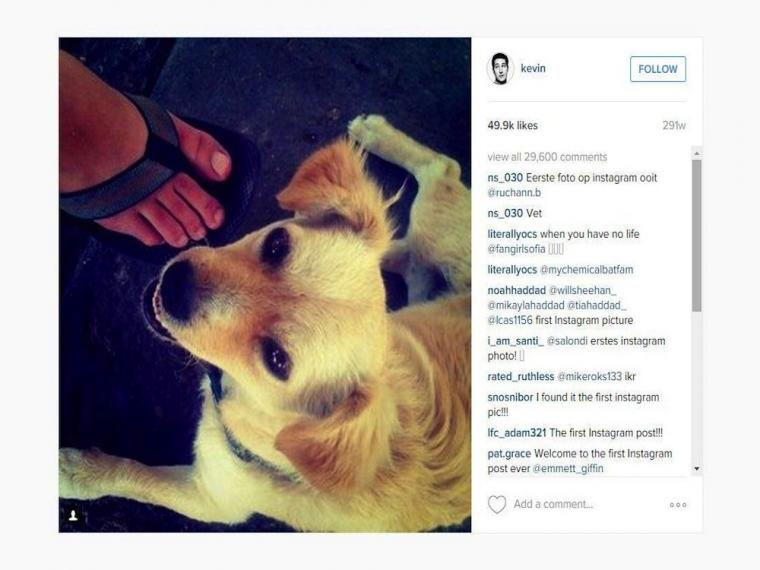 Primera foto de Instagram en Internet