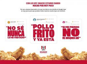 KFC, cuando en una campaña vas de sobrado