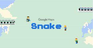 Snake, el juego de la serpiente de Google Maps