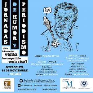 Adaptación para las Redes Sociales del cartel de las Jornadas de Humor y Periodismo organizadas por la Fundación Manuel Alcántara