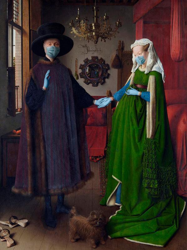 Arte con mascarillas: Jan van Eyck y el Matrimonio Arnolfini
