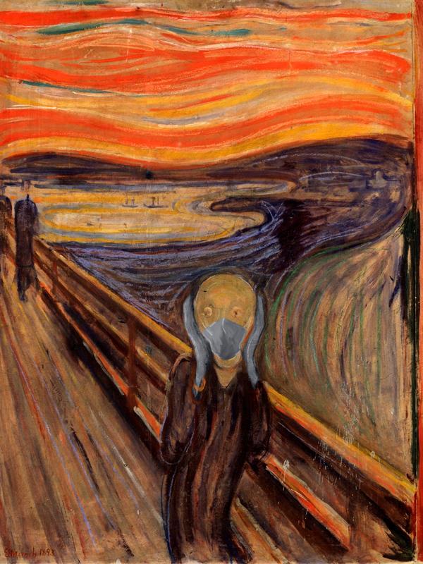 Arte con mascarillas: Munch. El Grito