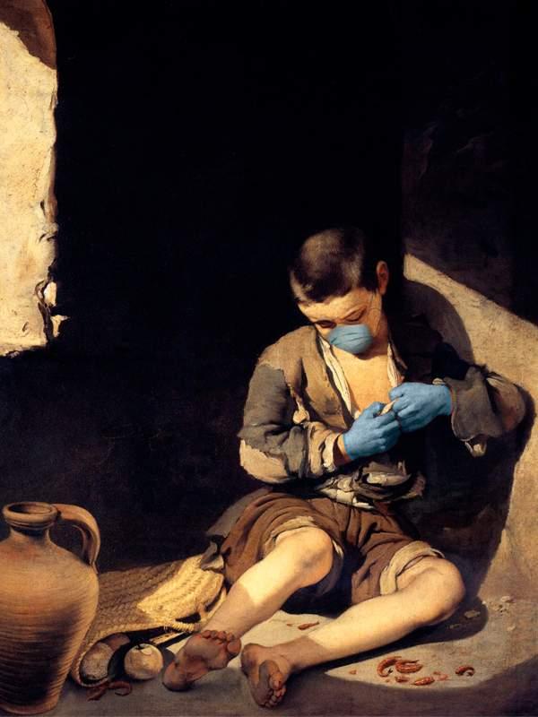 Arte con mascarillas: Murillo y su Joven Mendigo