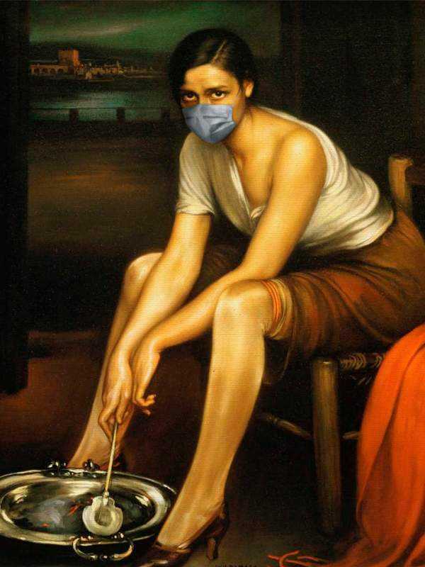 Arte con mascarillas: La Chiquita Piconera, de Romero de Torres
