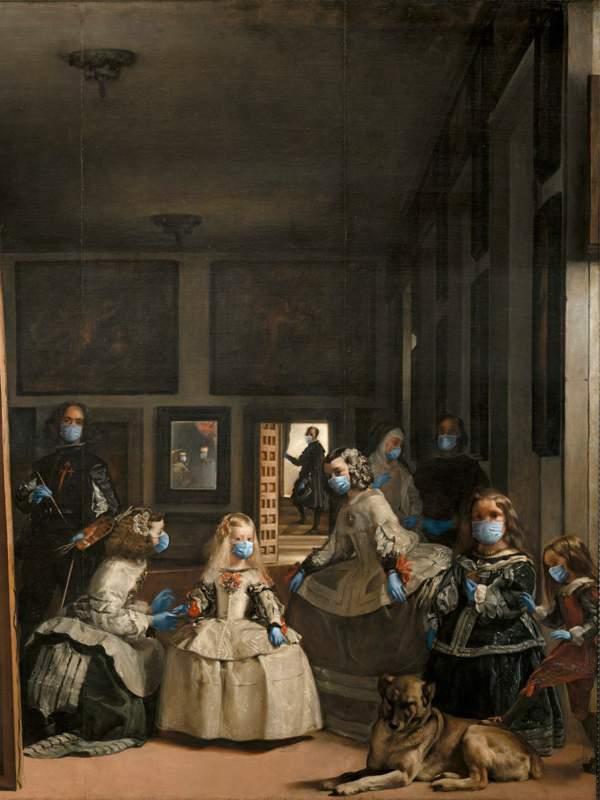 Arte con mascarillas: Velázquez y Las Meninas